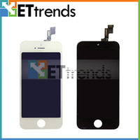 Cheap LCD Display & Touch Screen Digitizer Full Assembly for iPhone 5S Complete Screen Replacement Repair Parts Black White AA0438