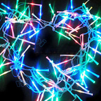 Wholesale Freeshipping V Optical fiber RGB LED Christmas lights m string LED lights colorful Christmas rope light KF