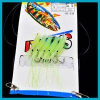 25sets\lot (25pcs)Luminous prawn shashlik hook Soft Simulati...