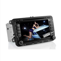 Wholesale Volkswagen Passat Jetta Golf Auto din DVD Player Built in GPS Navigation FM AM Radio RDS BT AUX Analog TV IPOD Dual Zone car DVD player