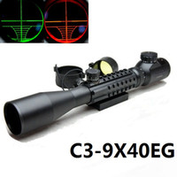 Wholesale telescopic sight C3 x40EG Red Green Dot Reflex Sight gun sight riflescopes night vision scopes WITH pica Tri Weaver Rail