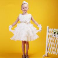 Wholesale Sunvary Sleeveless Wedding Affordable Flower Girls Dress White Short A line Skirt New