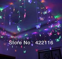 bedroom string lights - 3 meters RGB LED Holiday LIGHTS STRING Strip SMDs Butterfly V V EU US Plug CHRISTMAS WEDDING BEDROOM