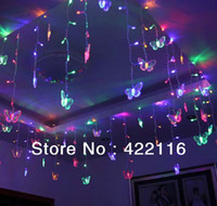 Wholesale 3 meters RGB LED Holiday LIGHTS STRING Strip SMDs Butterfly V V EU US Plug CHRISTMAS WEDDING BEDROOM