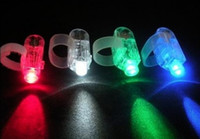 Wholesale 2100pcs LED Bright Finger Ring Lights Party Supplies Disco Flash Light Finger Beams Festival Toys