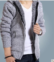Hot Fashion New winter outerwear coat brand men's sweater thick cardigans wool cotton coat