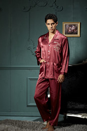 Wholesale Men s Silk pyjama Pajamas for nightshirts tracksuits dressing gown sleepwear Loungewear pyjamas men