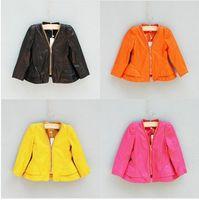 Spring / Autumn fashion leather jacket - New Arrival Kids Leather Coats Spring Autumn New Arrival EuropeStyle Fashion Cute Years Baby Girl s Jacket