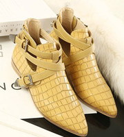 Wholesale Europe Crocodile Leather Shoe New Women Shoe