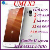 Wholesale UMI X2 android phones GB RAM GB RAM GB MTK6589T GHz Inch OGS Glass FHD Gorilla II screen P MP quad core smartphone