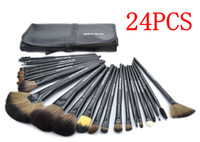 Wholesale Professional makeup brushes black hair pony hair makeup tool a large fan shaped fiber brush powder brush eye shadow brush