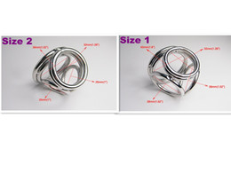 Wholesale-2013 NEW STYLE 4 Holes Male Delay Toys Steel Chastity Cock Rings Two Size Can Chose Metal FETISH Delayed Ejaculating Ring A530