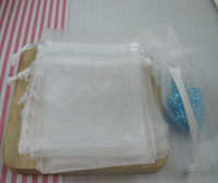 Wholesale Hot Organza Gift Bags White Colors x cm inches With Drawstring Sold Per Pkg of