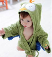 bear hooded towel - Hot Sale New Baby Infant Babies Girls Boys Kids Hooded Bear Embroidery Animal Style Bathrobe Towel