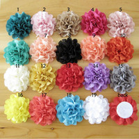 Wholesale Wavy Lace Fabric Flower DIY accessories Flowers For Baby Headbands Girls Mesh Flower Hair Accessories DIY Photography props