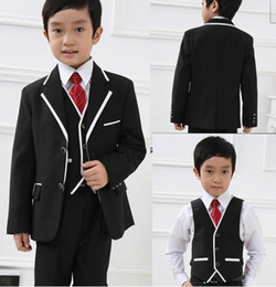 Wholesale Custom Made New Design Kid s Complete Designer Boys Formal Occasion Jacket Pants Vest Tie