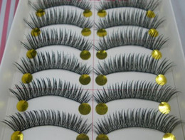 Wholesale Hot Long Upper Curl Soft False Eye lashes Black Handmade Make up Extensions