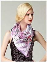 Wholesale Big Size x90cm Silk Square Scarf Women Fashion Brand High Quality Cheap Imitated Silk Satin Scarves Polyester Shawl