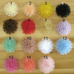 Folds Carnation Flower DIY accessories Flowers For Baby Headbands Girl Lace Flower Hair Accessories DIY Photography props All Handmade