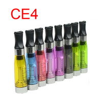 Wholesale CE4 Clearomizer for eGo Electronic Cigarette with Flat Drip Tips Various Color CE Atomizer
