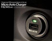 Wholesale Belkin Car Charger Mini Universal USB Car Charger For Iphone S GS iPod Free DHL Fedex