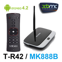 Wholesale T R42 MK888B Smart TV BOX UG300B RK3188 Quad Core Mini PC Android GB RAM GB Bluetooth WIFI Antenna XBMC MKV MINIX NEO A2 Air Mouse