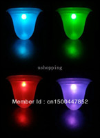 Candle Lights Ni-MH LED Bulbs New Free Shipping (4 Pieces lot) Solar Garden Light RGB Color lamp , Solar lawn lamps Solar street light