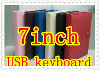 Wholesale DHL inch keyboard case A10 A13 Q88 N77 Sanei PIPO IPAD Ampe epad tablet pc MID PP