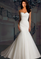 Sweetheart elegant dresses - Custom Made Elegant New Sweetheart Strapless Mermaid Tulle Wedding Dresses Bridal Dresses