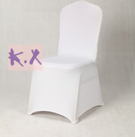 Wedding Chair Spandex / Polyester many color Spandex Lycra Chair Cover Wedding Banquet Decoration Free Shipping in White Color