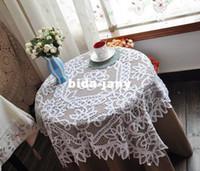 Wholesale Battenburg Lace Design tablecover Tablecloths cm inch
