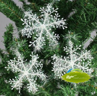 Wholesale 10Pcs Christmas Tree Decoration Silver Wire Snowflake Christmas Tree Exquisite Pendant cm