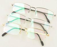 half frame glasses - Men s noble brand eyeglasses frame CA Pure Titanium Optical glasses frame half rim metal glasses frame