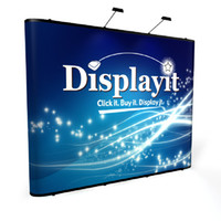 Wholesale POP UP BANNER PRINTING Line Pop up Banner Stand Backdrop Banner Exhibition Booth Trade Show Booth Backdrop