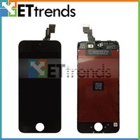 Wholesale New Arrival LCD Display and Touch Screen Digitizer Assembly for iPhone C No Dead Pixel A Quality DHL Black Color AA0448