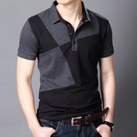 summer polo shirts - new men short sleeve spring summer t shirt Tops tees slim fit jigsaw cotton t shirt men slim fit plus size