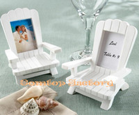 "Event & Party Supplies Yes Wedding Fedex Free shipping Wholesale ""Beach Memories"" Miniature Adirondack Chair Place Card Holder"