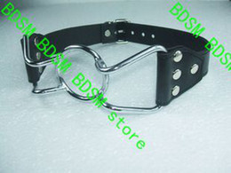 BDSM FATORY 100% as same photo Fetish leather Spider Ring Gag Ball Stainless Steel Open Mouth