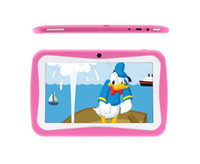Wholesale Hot Christmas Gift Inch Kids Children Tablet PC Allwinner A13 Capacitive Touch Screen Android GB MB Dual Camera MID Blue amp Pink