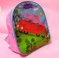 Wholesale peppa pig pink pork shoulder bag schoolbag children preschool students Pepe Pig Bag