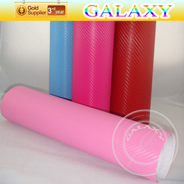 Wholesale Russia D High Flexible Polymer Carbon Fiber Car Sticker x3000cm With Air Free Channels Pink Color