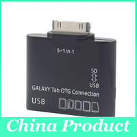 Wholesale Hot sale USB Camera OTG in Connection Kit SD TF Card Reader for SAMSUNG GALAXY Tab P7500 P7510 P7300 P731