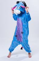 Wholesale Free ship Warm Donkey Sleepwear w Zipper for Women Male costume clothes pajamas sleepcoat Men Lover Gift Flannel Fall Winter