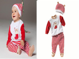 Wholesale hot sale christmas male boys and girls child hat socks infant baby boy long sleeve cap foot strap trouser