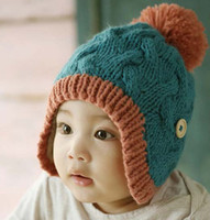 Wholesale Baby Crochet Hats Boy And Girl Cute Warm Winter Cap Kids Knitted Caps Fashion Wool Cap Knitted Beanie Hat Children s Autumn And Winter Caps