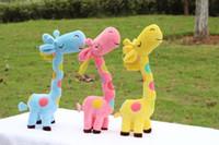 Wholesale super cute plush cm toy lover creative giraffe gift home decoration color inches