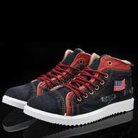 Wholesale fashion men s canvas shoes men s casual shoes Korean wave washed denim shoes shoes