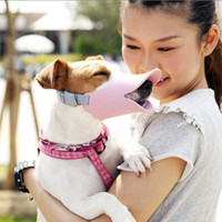 Wholesale Novelty Cute Duckbilled Pet Dog Muzzle Bark Bite Silica Bark Stop Pink Grey yellow For small size Dogs or Puppy