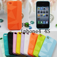 Wholesale TPU Geometric lines following comprehensive protection Mobile phone Case for Apple iphone G S iphone4S