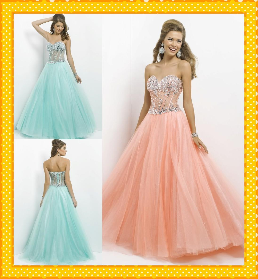 2017 Fancy Peach Coral Mint Sweetheart See Through Corset Sequin A ...